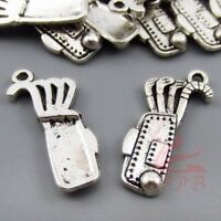 Love You To The Moon And Back 18mm Antiqued Silver Charms SC0080087-4//15//30PCs