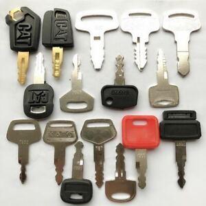 16 keys Construction Ignition/Heavy Equipment Key Set CAT Kubota Daewoo Komatsu