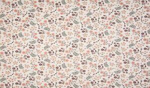 Baumwolle Jersey Stoff, Quality Textiles, Blumenblüten, Ecru / Bunt, 147cm