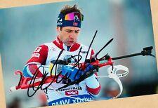 Ole Einar Björndalen (16) Autograph Picture Large Format 21 x 15 + Ski AK FREE