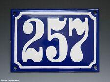 Emaux, E-Mail-numéro de maison 257 in bleu/blanc pour 1955