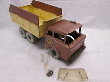 Louis Marx Power House Dump Truck Hydraulic Lift Pressed Steel 1950s