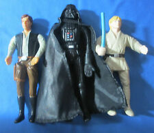 Star Wars Bend-Ems Lot Darth Vader,Han Solo,Luke Skywalker Action Figures 1993