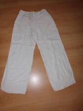 Pantalon en lin Terre et Mer Blanc Taille 40 à - 50%