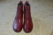 New Womens 9 M Bionica Corset Boots Leather Russet Red