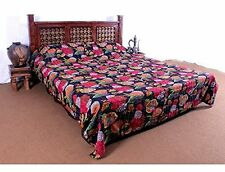 Vintage Handmade Cotton Kantha Quilt Bedspread Bed Cover Blanket Throw Cotton