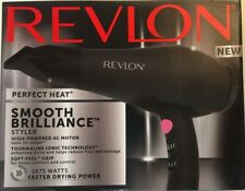 REVLON Perfect Heat, Smooth Brilliance Styler, Tourmaline Ionic 1875W Hair Dryer