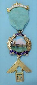 Masonic Silver Past Master Jewel Test Valley Lodge No 6181 1961