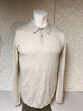 New Nike Golf Long Sleeve Wool Two Button Sweater Sz S 811554 141 Free Ship!