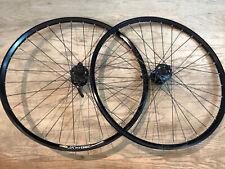 """Shimano XT Disc Brake 26"""" Mountain Bike Wheelset 32h Black Mavic XC 717 FH-M756"""