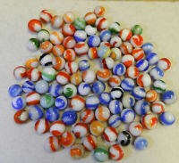 #10777m Vintage Group or Bulk Lot of 100 Akro Agate Corkscrew Marbles .58 to .69