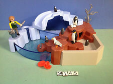 (M145) playmobil bassin des pingouins ref 4013 4850