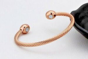 MAGNETIC BRACELET LADIES MENS BANGLE COPPER HEALING THERAPY ARTHRITIS PAIN CUFF