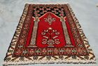 Hand knotted Vintage Pakistan Bokhara Jhaldar Wool Area Rug 1.11 x 1.5 Ft