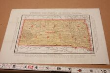 1889 South Dakota map & letter Opening Indian Reservation Land value up Pierre