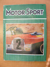 Motor Sport Magazine F1 Sports Road & Historic Cars Issue May 1972 Classic Car