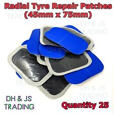 25x Universal Tyre Patch Radial Repair Tyre Plug Patch Patches Plugs 45mm x 75mm