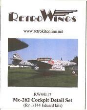 RetroKits Models 1/144 MESSERSCHMITT Me-262B TWO-SEAT COCKPIT DETAIL RESIN SET