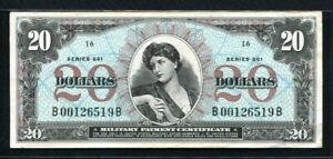 USA 1968, Military Payment, Series 661, 20 Dollar, B00126519B, M71, VF