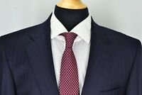 Jos A Bank Signature Gold Gordon Navy Blue Pinstriped 2 Pc Suit Sz 39R
