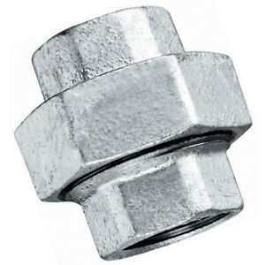 "Galvanised Steel Unions  :  1/4"" to 4"" BSP"