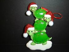 BRAND NEW KURT ADLER FAMILY OF THREE TURTLE CHRISTMAS HOLIDAY ORNAMENT