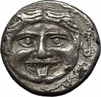PARION in MYSIA 400BC Gorgoneion Medusa Like Head Bull Silver Greek Coin i55319