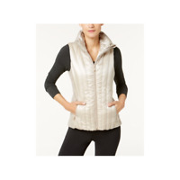 Calvin Klein Womens Performance Down Filled Quilted Vest Champagne Size Medium