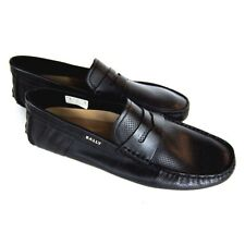 J-2570125 New Bally Draven Black Perforated Loafer Slip-On Shoe Size 9 US 10
