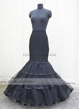 Black Normal / Plus Size Mermaid Trumpet Style Wedding Gown Petticoat Crinoline