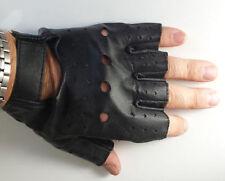 Gants et moufles noirs en cuir, taille S pour homme