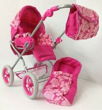 "3-IN-1 Doll Pram Set Stroller for 16"" Bitty Baby and 18 inch Too"