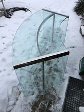 Italienischer halbrunder designer Schreibtisch aus Glas von Gallotti & Radice