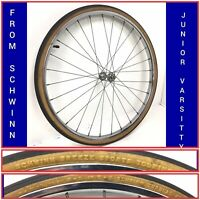 "Rare Schwinn 24"" x 1 3/8 x 1 1/4 Front Bicycle Chrome Wheel with Tire Bike - #J3"