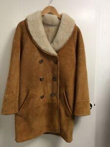 Nurseys English Real Sheepskin Coat - Ladies UK Size 14