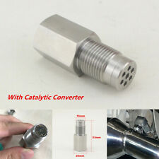 180° O2 Sensor Bungs Mini Catalytic Converter Car Engine Light CEL Check Adapter
