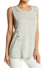 Socialite Distressed/Ripped Tank in Heather Size M