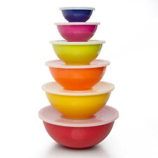 Melamine 12pc Bowl Set, Mixing Bowls With Lids Storage Nesting Meal Prep Serving