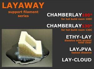 LAYAWAY support / 3d LAYFILAMENT, CHAMBERLAY / LAYaPVA / ETHYLAY, LAY-CLOUD,coil
