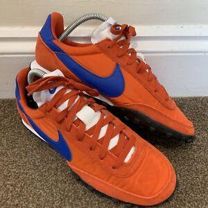 Nike Waffle Racer Orange Blue Mens Trainers UK Size 7