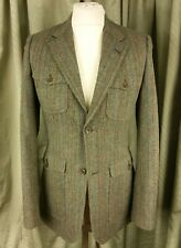 Topman Norfolk Safari Jacket Green Brown/Green/Blue/Red Stripe Wool Blend C36