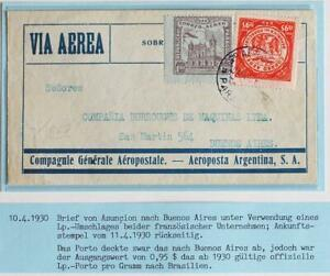 PARAGUAY to ARGENTINA 1930 Early Aeropostale Airmail Flight Cover ASUNCION to...