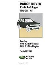 RANGE ROVER P38 PARTS LIST CATALOGUE VOGUE SE HSE DSE TD Owners Manual Handbook