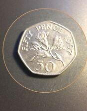1997 Bailiwick of Guernsey Fresia 50p  Coin Rare Date )