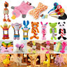 Dog Chew Bite Knot Toys Teddy Pet Puppy Teeth Squeaker Squeaky Plush Rope Lot