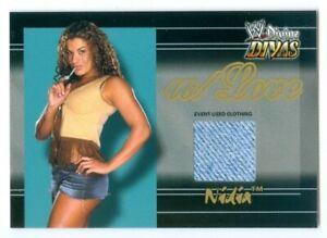 "NIDIA ""W/LOVE EVENT USED MEMORABILIA CARD"" FLEER WWE DIVINE DIVAS"