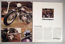 Triumph 500 Motorcycle 2-Page PRINT AD -- 1970