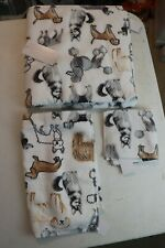 Charmont Varied DOG Breeds Set - Body Towel - Hand Towel - Wash Cloth - New