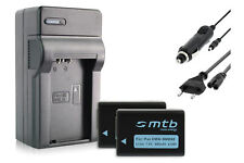 2x Baterìas DMW-BMB9E + Cargador para Panasonic Lumix DMC-FZ70, FZ72