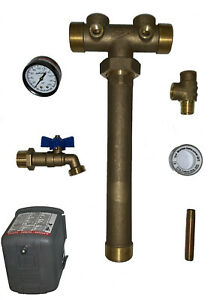 """Pressure Tank Tee Union, 1-1/4""""x14"""", Water Well, LF Brass, You Pick the Square D"""